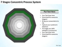 7 Stages Concentric Proces System Sample Business Plans PowerPoint Templates