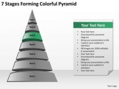 7 Stages Forming Colorful Pyramid Ppt Business Plan Proposal PowerPoint Templates
