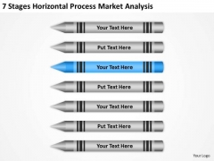 7 Stages Horizontal Process Market Analysis Ppt Business Plan PowerPoint Slides