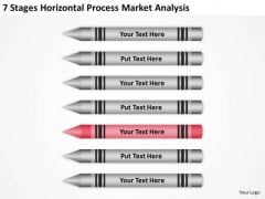 7 Stages Horizontal Process Market Analysis Ppt Personal Business Plan PowerPoint Slides