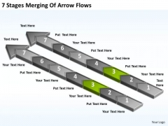 7 Stages Merging Of Arrow Flows Insurance Agency Business Plan PowerPoint Templates