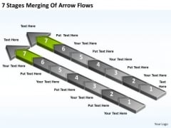 7 Stages Merging Of Arrow Flows Ppt Hotel Business Plan Example PowerPoint Slides