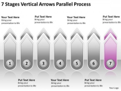 7 Stages Vertical Arrows Parallel Process Ppt Event Planning Business PowerPoint Templates