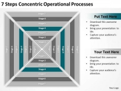 7 Steps Concentric Operational Processes Ppt Linear Flow Rate PowerPoint Slides