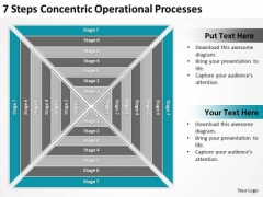 7 Steps Concentric Operational Processes Ppt Magazine Business Plan PowerPoint Templates