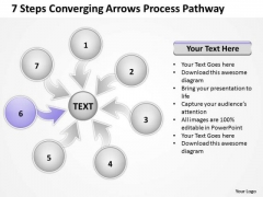 7 Steps Coverging Arrows Process Pathway Ppt Network Software PowerPoint Slides