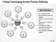 7 Steps Coverging Arrows Process Pathway Processs And PowerPoint Slides