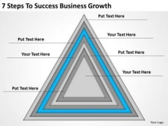 7 Steps To Success Business Growth Plan PowerPoint Slides