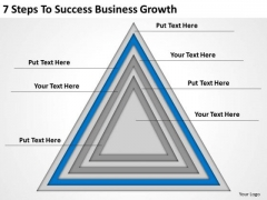 7 Steps To Success Business Growth Ppt Plan PowerPoint Template