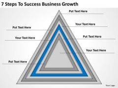 7 Steps To Success Business Growth Ppt Plan PowerPoint Templates
