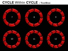 7 To 12 Stages Cycle Charts Process Diagrams PowerPoint Templates