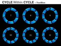 7 To 12 Stages Cycle Diagrams Toolbox PowerPoint Slides