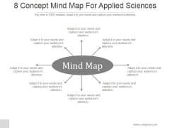 8 Concept Mind Map For Applied Sciences Ppt PowerPoint Presentation Example 2015