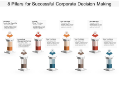 8 Pillars For Successful Corporate Decision Making Ppt PowerPoint Presentation Layouts Vector PDF