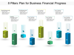 8 Pillars Plan For Business Financial Progress Ppt PowerPoint Presentation Professional Layout Ideas PDF