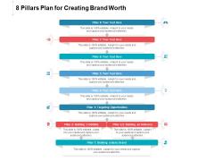 8 Pillars Plan For Creating Brand Worth Ppt PowerPoint Presentation Layouts Slide Portrait PDF