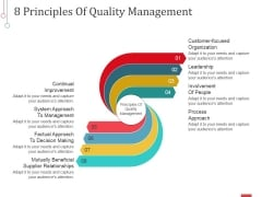 8 Principles Of Quality Management Ppt PowerPoint Presentation Model Elements