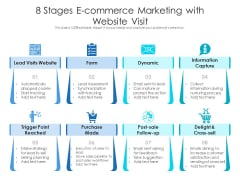 8 Stages E-Commerce Marketing With Website Visit Ppt PowerPoint Presentation File Model PDF