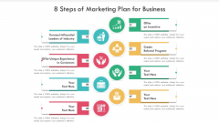 8 Steps Of Marketing Plan For Business Ppt PowerPoint Presentation Gallery Graphics Template PDF