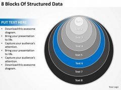 8 Blocks Of Structured Data Business Plan For Bakery PowerPoint Slides