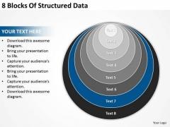 8 Blocks Of Structured Data Business Plan Generator PowerPoint Templates
