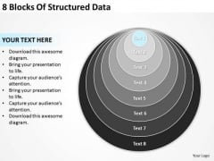 8 Blocks Of Structured Data Business Plan Template Word PowerPoint Templates