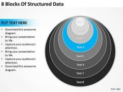 8 Blocks Of Structured Data How To Business Plan PowerPoint Slides