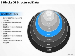 8 Blocks Of Structured Data Plans PowerPoint Templates
