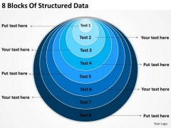 8 Blocks Of Structured Data Sample Business Plan Format PowerPoint Slides