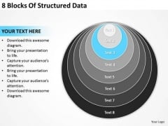8 Blocks Of Structured Data Strategic Plan PowerPoint Templates