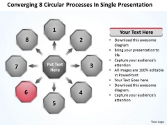 8 Circular Processes In Single Presentation PowerPoint Templates