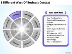 8 Different Ways Of Business Context Case Template PowerPoint Slides