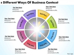8 Different Ways Of Business Context Cleaning Service Plan PowerPoint Templates