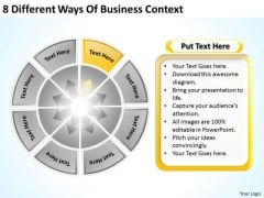 8 Different Ways Of Business Context Good Plan PowerPoint Templates
