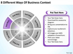8 Different Ways Of Business Context Marketing Plan PowerPoint Templates