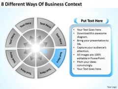 8 Different Ways Of Business Context Plan PowerPoint Templates