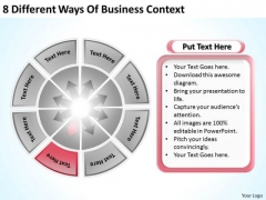 8 Different Ways Of Business Context Simple Plan Template PowerPoint Templates