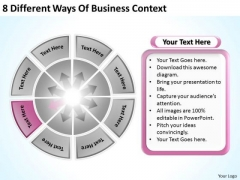 8 Different Ways Of Business Context Simple Plans PowerPoint Templates