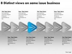 8 Distinct Views On Same Issue Business Graphic Design Plan PowerPoint Templates