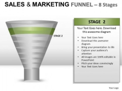 8 Stage Conversion Funnel PowerPoint Slides And Ppt Diagram Templates