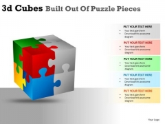 8 Stages 3d Cube Puzzle Pieces PowerPoint Slides And Ppt Diagram Templates