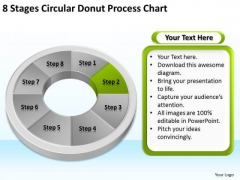 8 Stages Circular Donut Process Chart Business Plan PowerPoint Templates