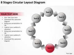 8 Stages Circular Layout Diagram Business Plan PowerPoint Slides