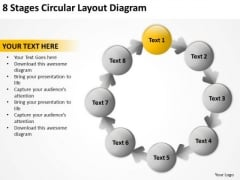 8 Stages Circular Layout Diagram Business Plan PowerPoint Templates