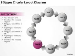 8 Stages Circular Layout Diagram Business Plan Programs PowerPoint Slides