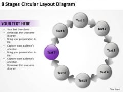 8 Stages Circular Layout Diagram Business Plans Samples PowerPoint Slides