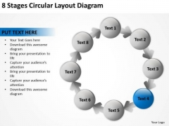 8 Stages Circular Layout Diagram Strategic Business Plans PowerPoint Templates
