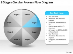 8 Stages Circular Process Flow Diagram Help Business Plan PowerPoint Slides