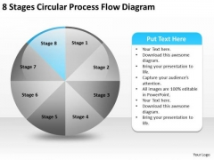 8 Stages Circular Process Flow Diagram Network Marketing Business Plan PowerPoint Slides