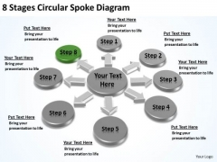 8 Stages Circular Spoke Diagram Sample Business Plans Free PowerPoint Slides